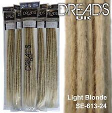 Platinum Blonde Dreadlock Extensions | Handmade Crochet by Dreads UK