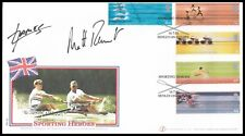 JAMES CRACKNELL OBE & SIR MATTHEW PINSENT Signed 2002 GB Commonwealth Games FDC