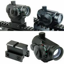 Quick Release Tactical Reflex Red Green Dot Sight Scope w/ Dual Rail Mounts