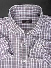 Canali Brown Check Shirt (17 US/43 EU)
