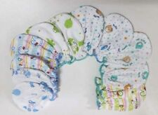6 PAIRS 100% COTTON GLOVES MITTENS FOR NEW BORN BOYS BABIES  BLUE ANIMAL PRINT
