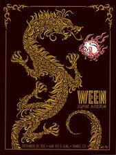 MINT & SIGNED Ween 2011 Fillmore Denver Todd Slater Poster 93/125
