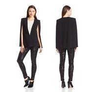 BCBG MAXAZRIA Womens Fashion Black Upas Cape Jacket Coat Overcoat  XS SM M L NEW
