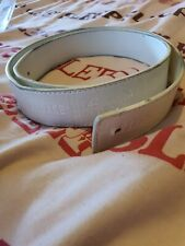 VERSACE WHITE MEDUSA  LEATHER BELT 46/115