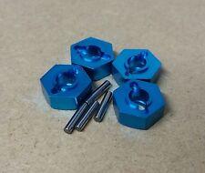 1/10 RC auto M12 12mm Hex Lega Ruota Dado Adattatori e spille blu