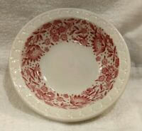 "1 MINT SYRACUSE CAREFREE MAYFLOWER ROXBURY RED 5-1/8"" BERRY SAUCE FRUIT BOWL"