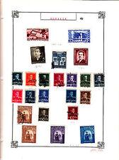 ROMANIA Old Stamps Roumanie vieux timbres sur feuiles d'albums lot 431