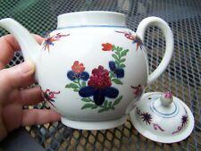 More details for antique worcester teapot flash pattern c1780