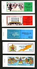 Anguilla 1980 London Stamp Exhibition Set Of 3 MNH Stamp Booklets + 2 More.