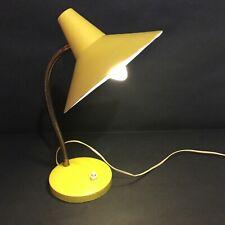Lampe de bureau en métal, couleur jaune/moutarde
