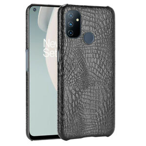 Vintage Crocodile PU Leather Back Cover Case For Oneplus Nord N100 / N10 8T 7T 8
