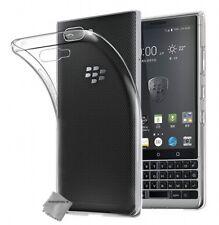 Housse etui coque silicone gel fine Blackberry Key2 + verre trempe TRANSPARENT T