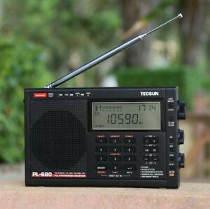 UK Stock New TECSUN PL-680 PLL FM/Stereo MW LW SW SSB AIR Band Receiver Radio
