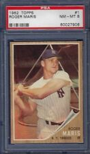 1962 TOPPS NO. 1 ROGER MARIS PSA 8 NEAR MINT/MINT FIRST CARD IN SET