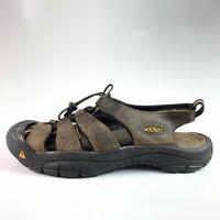 KEEN Mens Newport Athletic Sandals Brown Water Shoes Bungee Laces Waterproof 9