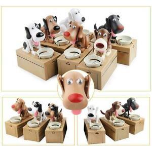 Creative Money Box Dog Coin Piggy Bank Saving Eat Coins Gift Xmas Box Desk Y0B5