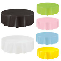 Plain Disposable Solid Tablecover Events Catering Wedding Xmas Round Tablecloth