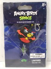 ANGRY BIRDS SPACE - Promo LANYARD & Black BIRD Rubber Key Chain / Charm - NEW