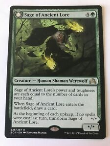 1x MTG - Sage Of Ancient Lore - Shadows Over Innistrad - NM