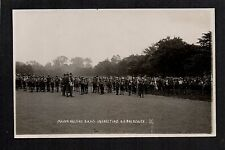 York - Major Halford Inspecting B.P. Boy Scouts - real photographic postcard