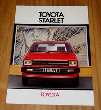 Catalogue TOYOTA STARLET 1 de 1980
