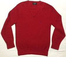 Christian Dior Monsieur red Acrylic Red V-Neck Pullover Sweater Men's size Large