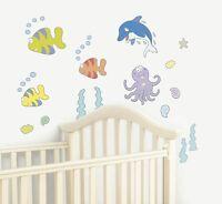 Undersea Adventure Nursery Bedroom Wall Stickers Kids Decals Girls Bedroom Decor