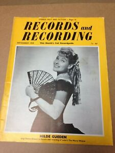 Records and Recording Magazine November 1958 Hilde Gueden (A2025)