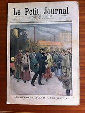 ?Le petit Journal 10/06/1900; Ouvriers Anglais à l'exposition/ Incidents Jersey