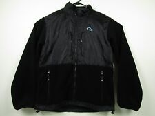 Mens Denali Large Black Full Zip Mock Neck Water Resistant Light Jacket EUC