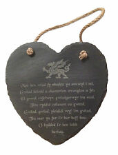 Unbranded Heart Engraved Decorative Indoor Signs/Plaques