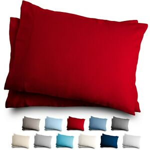 Flannel Pillowcase Set - 100% Cotton - Velvety Soft Heavyweight - Double Brushed