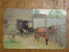 Vintage Postcard Horse And Buggy Parking Lot, Goshen, Indiana