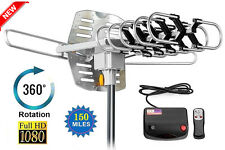 Newest Long Range Outdoor Hdtv Antenna Digital TV 150  Amplified Remote Con