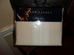 NIP Ralph Lauren Dune Lane Jamesport Tan/Cream King Duvet Cover & Shams Set 3pc