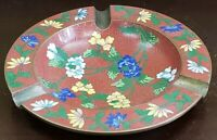 1920's Chinese Cloisonne Floral Motif Ashtray