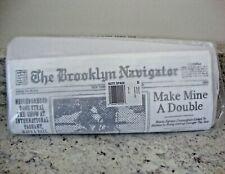 NWT KATE SPADE New York Glitzy Ritzy BROOKLYN NAVIGATOR  NEWSPAPER CLUTCH PURSE