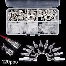 120 x Crimpverbinder 2.8mm 4.8mm 6.3mm Flachsteckhülsen Flachstecker Kabelschuhe