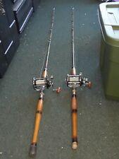2 Vintage Fluke Fishing Poles rod Penn reel Sea Isle Sports Freeport Custombuilt