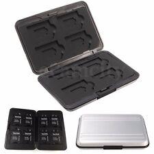 Aluminio Caja Funda Bolsa Estuche Para 8 Tarjetas de Memoria Micro/SD/SDHC/SDXC