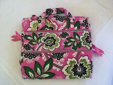 NWOT VERA BRADLEY RETIRED PATTERN  PRISCILLA PINK HANGING TRAVEL ORGANIZER CASE