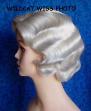 Finger Wave Fingerwave Wig Rose. WHITE   .Quality! Downton Abbey!