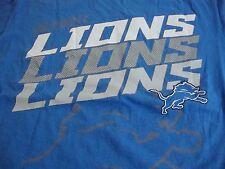 NFL Detroit Lions Football Fan 2014 Regular Season Schedule Blue T Shirt M
