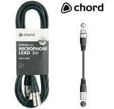 3 pin Chord XLR DA MASCHIO A Femmina Microfono estensione Piombo 3.0 metri