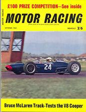 Motor Racing - BRSCC journal - magazine - September 1962