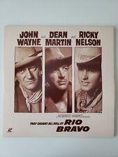 RIO BRAVO JOHN WAYNE DEAN MARTIN RICKY NELSON HOWARD HAWKS  RARE LASER DISC