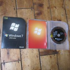 Windows 7 Ultimate 34 + 64 bit PC Physical DVD Complete w Key Full UK Retail