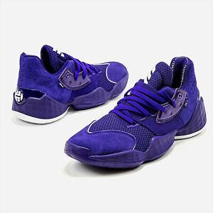 adidas SM Harden Vol 4 Purple Mens Harden Basketball Shoes EF9784 NEW