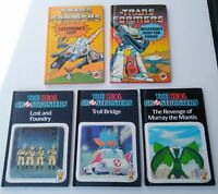 Vintage Ladybird Trans Formers & The Real Ghostbusters Book Bundle 1980's