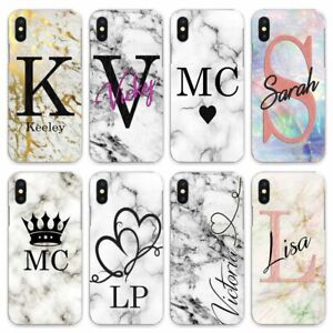 For iPhone 8/7/6/Plus/5s/XS/Max/XR Case Personalised initials awesome